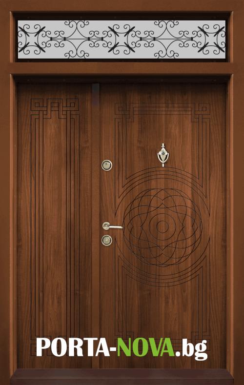 Ednokrila vhodna vrata T 110 tsvyat Zlaten dab 1 1