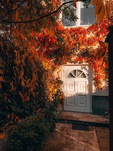 Autumn Garden Door